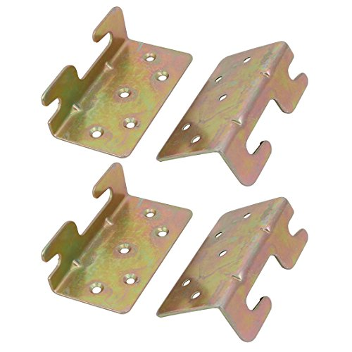 Bronze Fixed Rail - uxcell 96mmx47mm Screw Fixed Bed Hinge Rail Brackets Connecting Fittings 2 Set