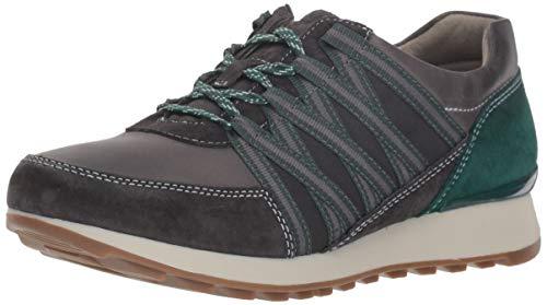 Dansko Women's Gabi Sneaker, Charcoal Burnished Nubuck, 40 M EU (9.5-10 US)