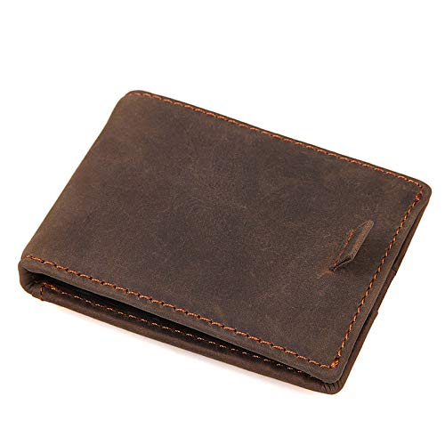 Shengjuanfeng Mens Card Holder Leather Dollar Card Holder Practical Card Pack RFID Card Holder Color : Beige, Size : S