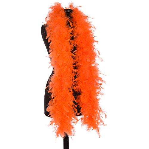 DreamAngels 40 Gram Chandelle Feather Boas (Orange) -