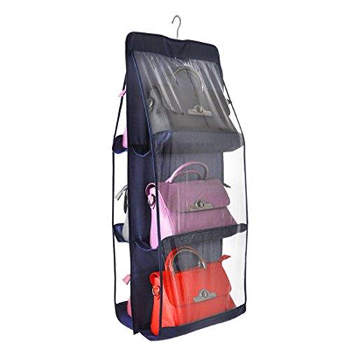 XFentech Plegable armario organizador de colgante sistema de para 6 el bolso
