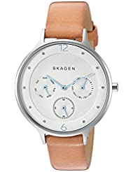Skagen Women's Anita SKW2449 Beige Leather Quartz Watch