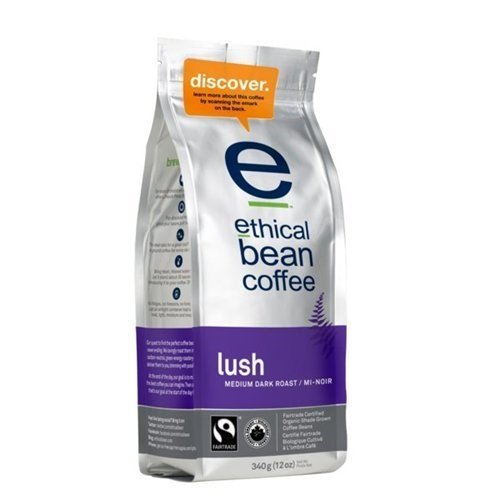 Ethical Bean Coffee Ethical Bean Lush Medium Dark Roast Coffee (6x12 Oz) by Ethical Bean Coffee