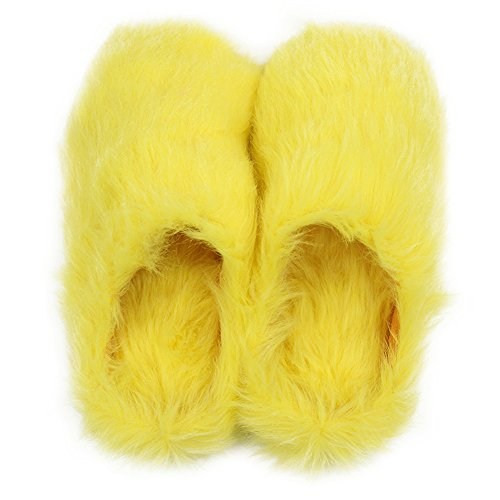 Indoor Clogs Long Home Cute Spa Plush Women's Yellow House Slipper Slippers Fleece Warm qqP0Z