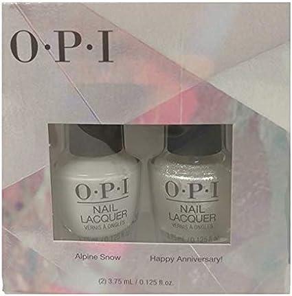 OPI Lacquer - Mini 2 Pack - Alpine Snow + Happy Anniversary! DUO ...