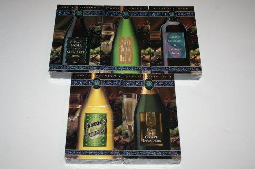 Set of 5 Jancis Robinson's Wine Courses [VHS] Pinot Noir, Merlot, Cabernet Sauvignon, Sauvignon Blanc, Chardonnay, Syrah, Shiraz, Riesling, Fizz, Grape (Merlot Riesling Wine)