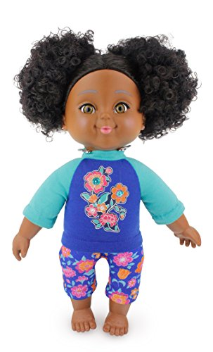 """Search : Positively Perfect Aaliyah African American Toddler Doll, 14.5"""""""