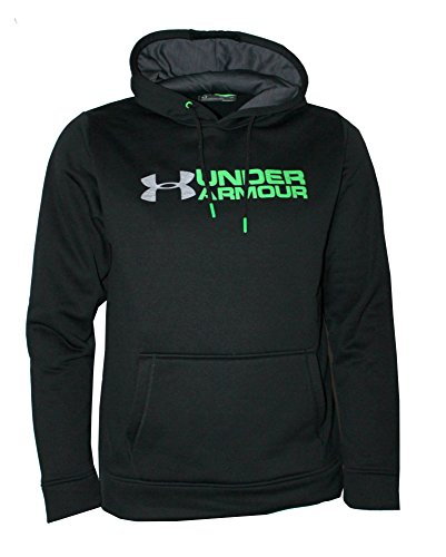Under Armour Men's Storm Fleece UA Logo Hoodie Athletic Hooded Shirt Fleece Lined (Black, L)