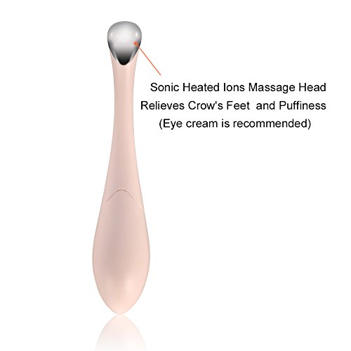 SUNMAY Ionic Heated Eye Massager roller Wand, Sonic Eye Treatment Pen for Puffiness and Crow's Feet, Battery Operated (Included) by SUNMAY (Image #1)