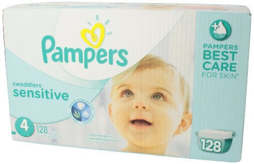 Amazon.com: Pampers Swaddlers Sensitive Diapers Size 4 Economy ...