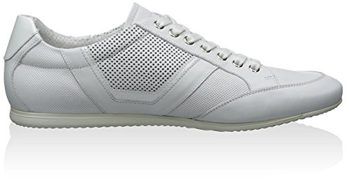 Alessandro Dellacqua Menns Lav Topp Snøring Sneaker Hvit