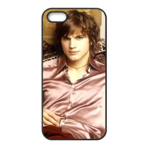 Ashton Kutcher 005 coque iPhone 5 5S cellulaire cas coque de téléphone cas téléphone cellulaire noir couvercle EOKXLLNCD21754