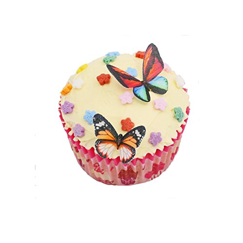 Cake Art Black Edible Colour : Kitamp Set of 50 Mixed Colour Edible Butterflies Cake ...