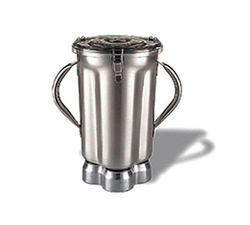 Waring Commercial CAC72 Stainless Steel 2-Handle Container with Blade Assembly and Lid, 1-Gallon by Waring