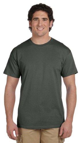 Gildan Mens Ultra Cotton 100% Cotton T-Shirt, Large, Military Green