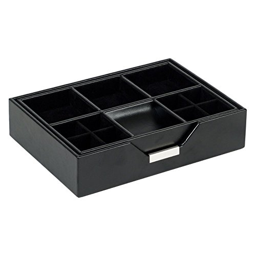 WOLF Heritage Mens Accessories Black Valet Tray - 9W x 2H in. - Set of 2