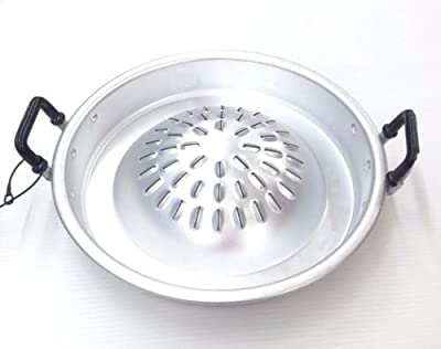 "12 "" Inch GRILL PAN HOT POT BBQ BARBECUE THAILAND SUKI STEAK KOREAN STYLE ALUMINUM"