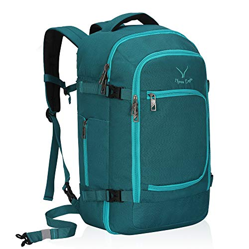 Hynes Eagle Travel Backpack 40L Flight Approved Carry on Backpack Teal 2018
