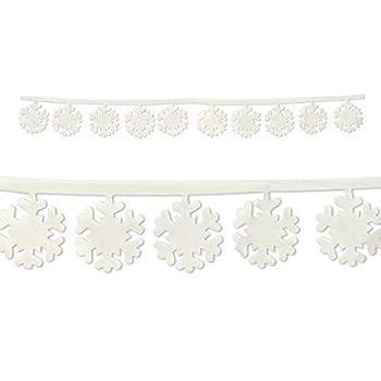 Beistle 20366 Fabric Snowflake Garlands, 3-Feet 11-Inch
