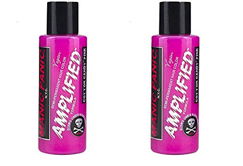 (Manic Panic 2 PACK Amplified Semi Permanent Hair Dye 4oz. (4oz 2 Pack, Cotton Candy Pink) )