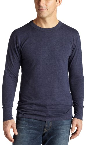 Duofold Men's Midweight Thermal Crew, Navy, Medium