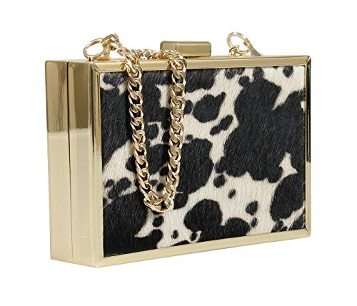 Womens for C15 Cavalli Roberto HXLPA7 Box White Black Clutch w0qwBnx8v