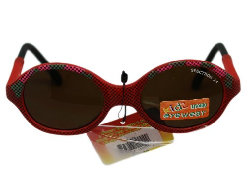 Red Retro Circle Frame Lens Kidz Eyewear - F21 Sunglasses