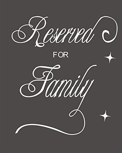 Reserved for Family Wedding Reception Signage Ceremony Seating Table By meijiafei