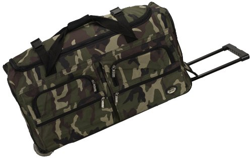 Rockland Luggage 30 Inch Rolling Duffle Bag, Camouflage, Medium
