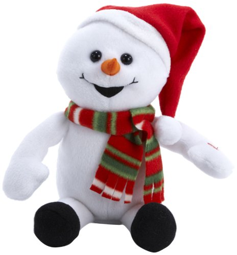 Kurt Adler 10-Inch Laughing Snowman with Farting Sound