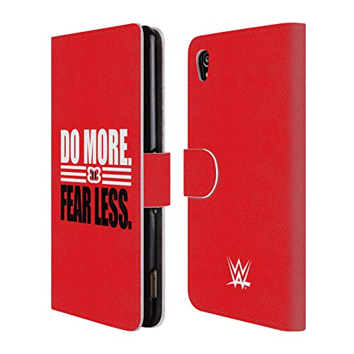 Official WWE Nikki Bella Do More Fear Less 2018/19 Superstars 5 Leather Book Wallet Case Cover for Sony Xperia M4 Aqua