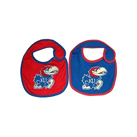 competitive price 55b9c 898bd Image Unavailable. Image not available for. Color  Game Day Outfitters NCAA  Kansas Jayhawks Infant Bib Logo (2 Piece), One Size