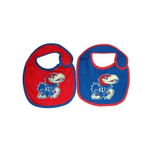 Game Day Outfitters NCAA Kansas Jayhawks Infant Bib Logo (2 Piece), One Size, Multicolor by Game Day Outfitters