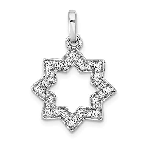 FB Jewels 14k White Gold 1/4ct. Diamond Star Of David Pendant