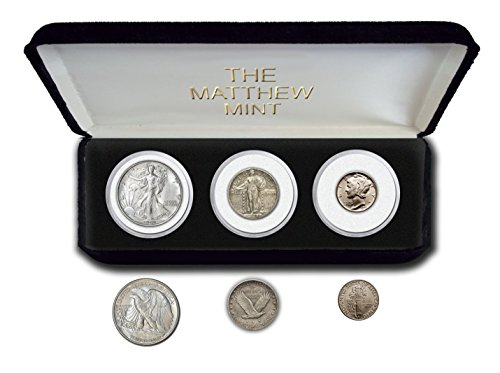 - 1916 Various Mint Marks Liberty Three Coin Set Various Grades