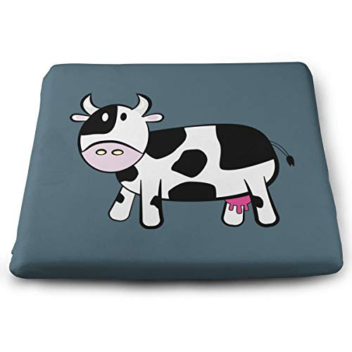 BOOM-BM Cartoon Cow Home Living Room Office Decor Memory Foam Seat Cushion Floor Pillow Winter Office Sofa Pillow Buttocks Chair Pads Cushion, 13.7