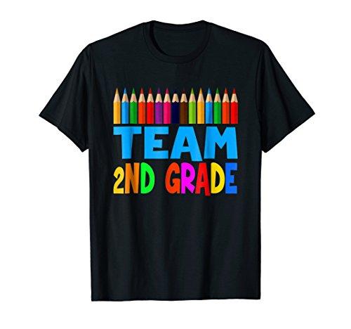 50 Pack Team Tees - 2nd Grade Team Pencils Tshirts 2nd Grade For Kids / Teachers