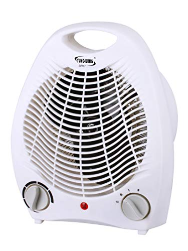 Tung Wing Supply, 1500W Fan Portable Heater with Adjustable Thermostat, Overheat and Tip-Over Protection – Perfect For…