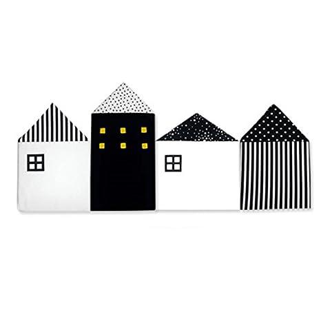 Nordic - Juego de cama para bebé, 4 piezas, cojín, protector de ropa de cama para recién nacido, almohadas alrededor de la cuna, decoración de habitación para niñas, niños y dormitorio rosa rosa PlayMaty