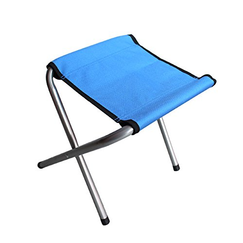 Edoking Folding Camping Stool Chair, Portable Mini Lightweight Slacker Chairs Fishing Outdoor Train Traveling (Blue stools)