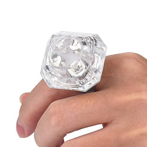 (️ Yu2d ❤️❤️ ️LED Light Flashing Finger Imitation Diamond Ring Kids Children Party Favors)