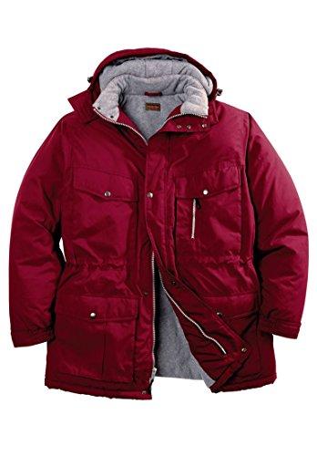 (Boulder Creek Men's Big & Tall Expedition Parka Coat, Rich Burgundy Tall-XL)
