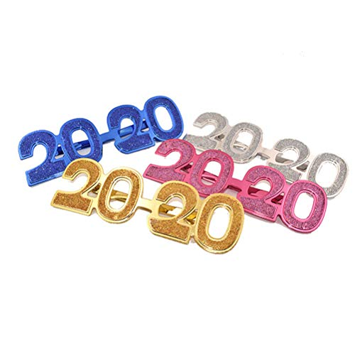 1 Pc 2020 New Year's Eve Glasses Frames Fun Spectacles Frames Party Supplies Costume Accessories Photo Props (Random -