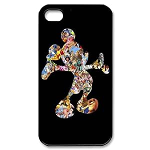 Qxhu Disney All Characters patterns Protective Snap On Hard Plastic Case for Iphone4,4S