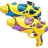 Water Squirt Gun, 2 Pack Water Guns for Kids Toddler, Super Soaking Water Blaster Pistol Shooters Launcher Gun Pool Toys for Pet Trains