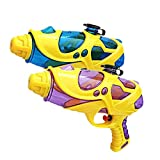 Water Squirt Gun, 2 Pack Water Guns Kids Toddler, Super Soaking Water Blaster Pistol Shooters Launcher Gun Pool Toys Pet Trains