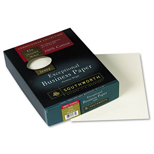 Southworth : Connoisseur Exceptional Business Paper, Ivory, 32lb, Letter, 250 per Box -:- Sold as 2 Packs of - 250 - / - Total of 500 Each