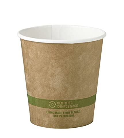 World Centric CU-PA-10-K Compostable Kraft Paper Hot Cups, 10 oz. (Pack of 1000) - 10 Ounce Styrofoam Cups