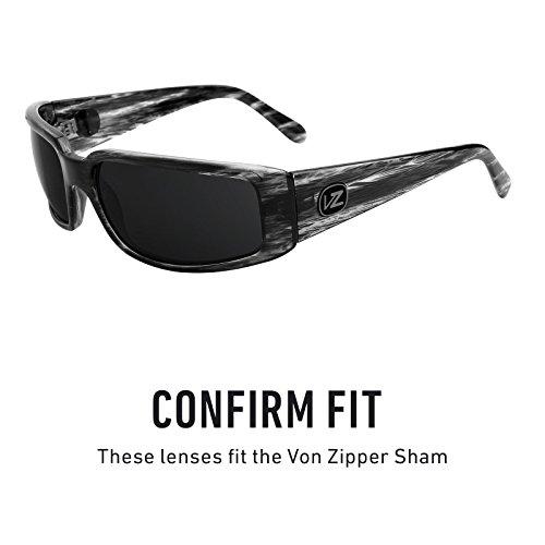 de Von — Lentes Polarizados Mirrorshield Revant Titanio Opciones múltiples Elite Sham para repuesto Zipper ISf5qTxw