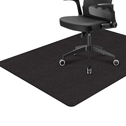 BLACK 사무실 의자 매트한 나무 바닥 업그레이드 버전의 자 열심히 매트 바닥 보호자 1 | 6 두꺼운 55X35 의자 양탄자 다중 목적을 위해 책상 사무실과 가정